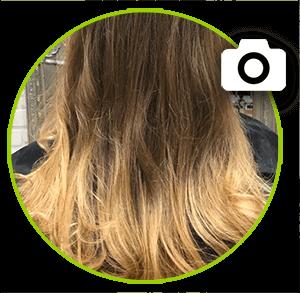 LASHES & HAIR::Beispiel für eine balayage Färbung